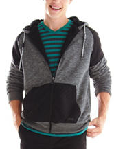 Ocean Current Gray & Black Quilted Patch Hoodie