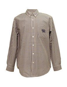 Kentucky Wildcats Blue & Brown Plaid Shirt
