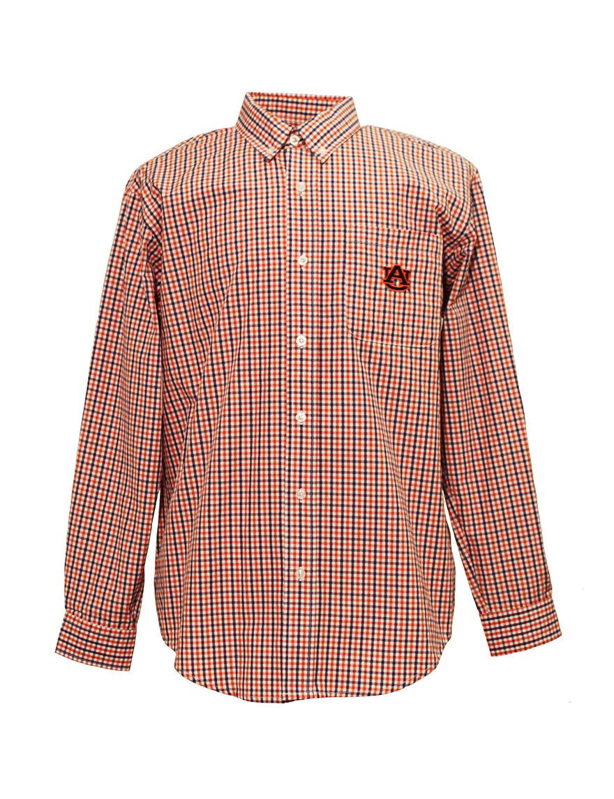 NCAA White / Navy Casual Button Down Shirts