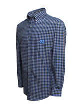 North Carolina Tar Heels Grey & Black Plaid Shirt