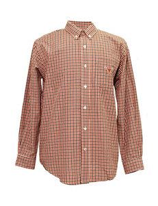 Texas Longhorns Orange & Black Plaid Shirt