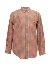 Texas Longhorns Orange & Black Plaid Shirt