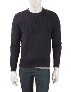 Signature Studio Zip Shoulder Ribbed Sweater