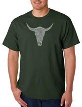 Los Angeles Pop Art Cow Skull T-Shirt