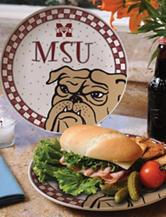 Gameday Ceramic Plate – Mississippi State University