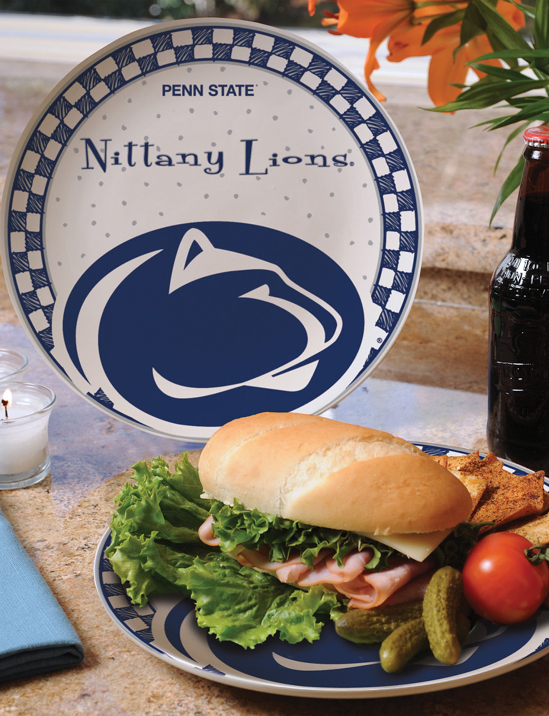 NCAA White Plates Serving Platters & Trays Serveware