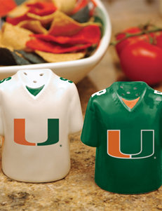 NCAA Green Salt & Pepper Shakers Serveware