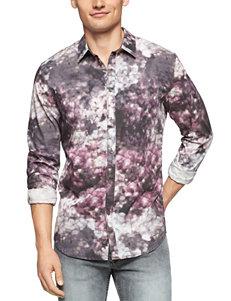 Calvin Klein Blue Floral Print Shirt