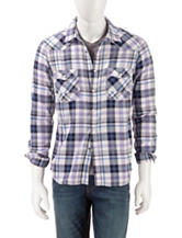 Red Snap Plaid Woven Shirt