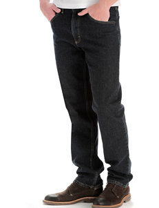 Lee® Black Quartz Regular Fit Straight Leg Jeans