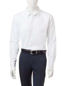 Axist Bright White Casual Button Down Shirts