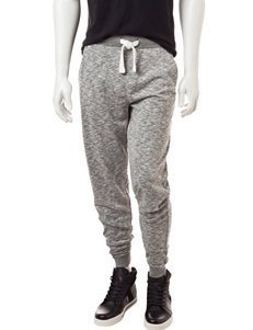 Rustic Blue Gray Space-Dye Jogger Pants