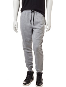 Hollywood Heather Gray Reflective Jogger Pants