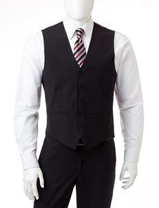 Arrow® Black Microstriped Vest