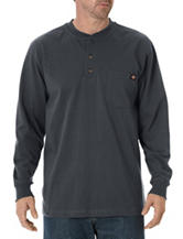 Dickies Charcoal Heavyweight Henley Top