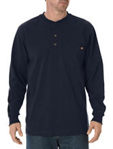 Dickies Dark Navy Heavyweight Henley Top