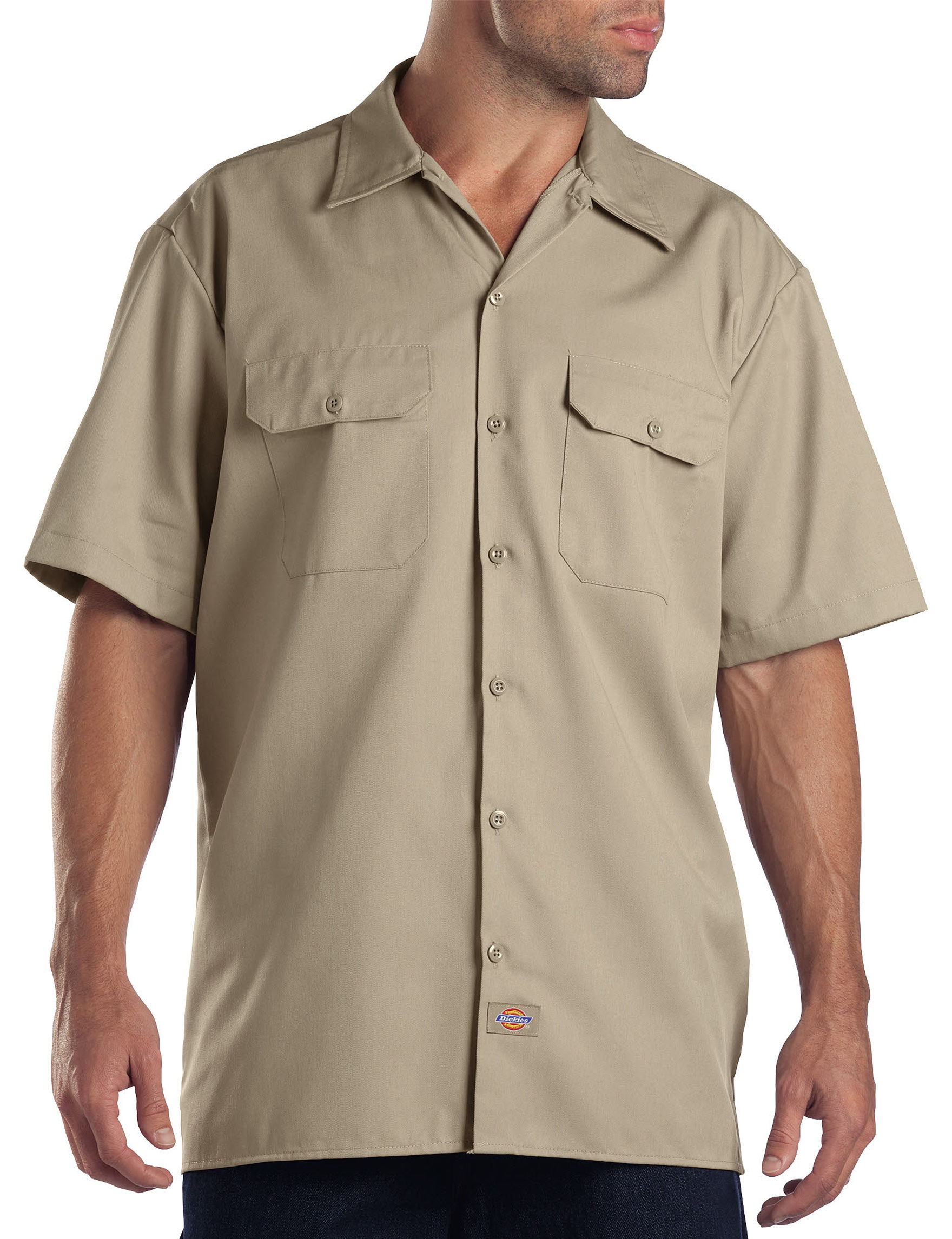 Dickies Beige Casual Button Down Shirts