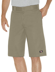 Dickies Khaki Relaxed Fit Multi-Pocket Work Shorts