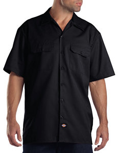 Dickies Black Casual Button Down Shirts