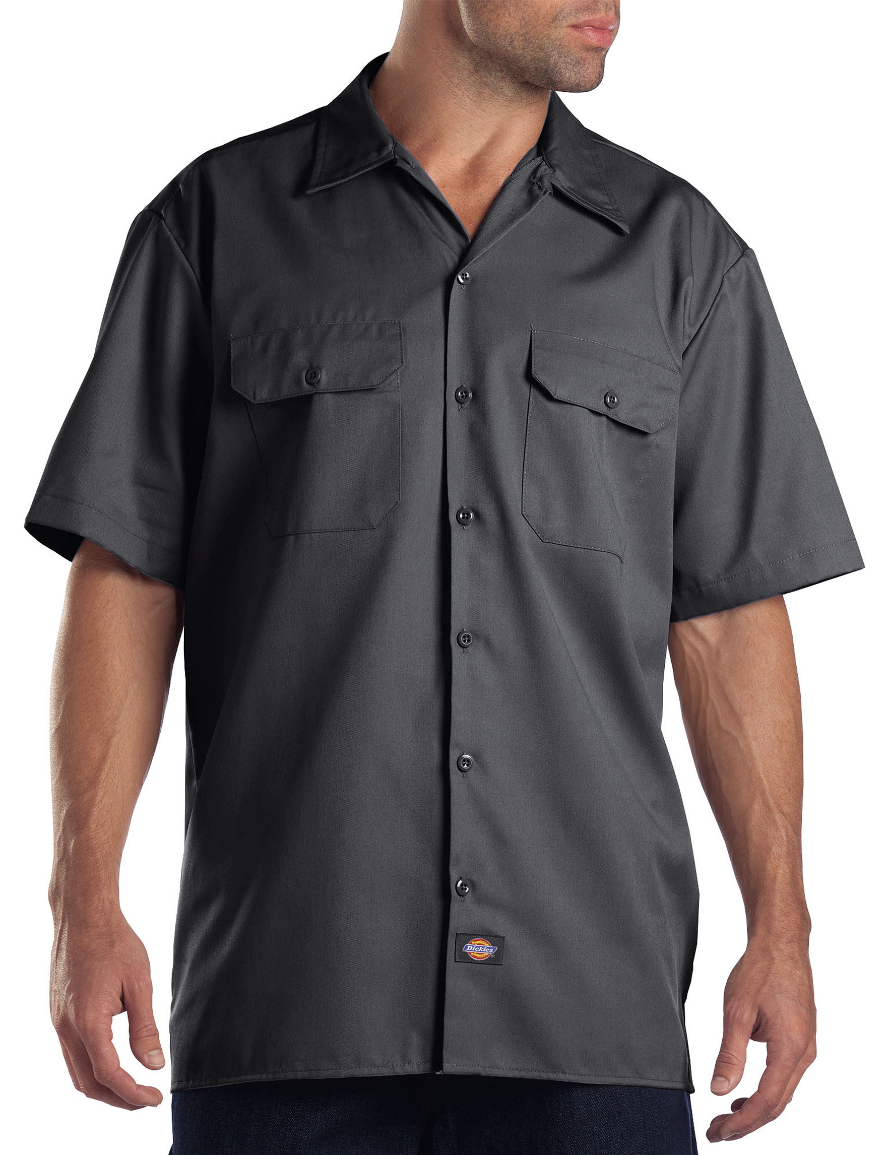 Dickies Grey Casual Button Down Shirts