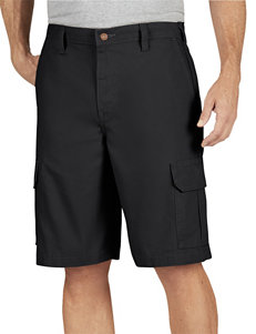 Dickies Black Relaxed Fit Lightweight Duck Cargo Shorts