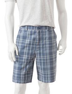 Sun River Multicolor Plaid Print Flat Front Shorts