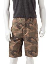 Sun River Multicolor Camouflage Print Cargo Shorts