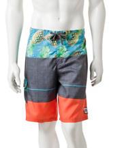 Ocean Current Dole Mixed Media Swim Shorts
