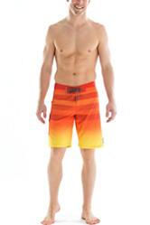Ocean Current Orange Ombre Striped Swim Shorts
