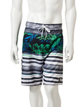 Laguna Island Striped Swim Shorts
