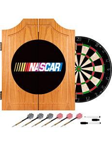 NASCAR Wood Dart Cabinet Set