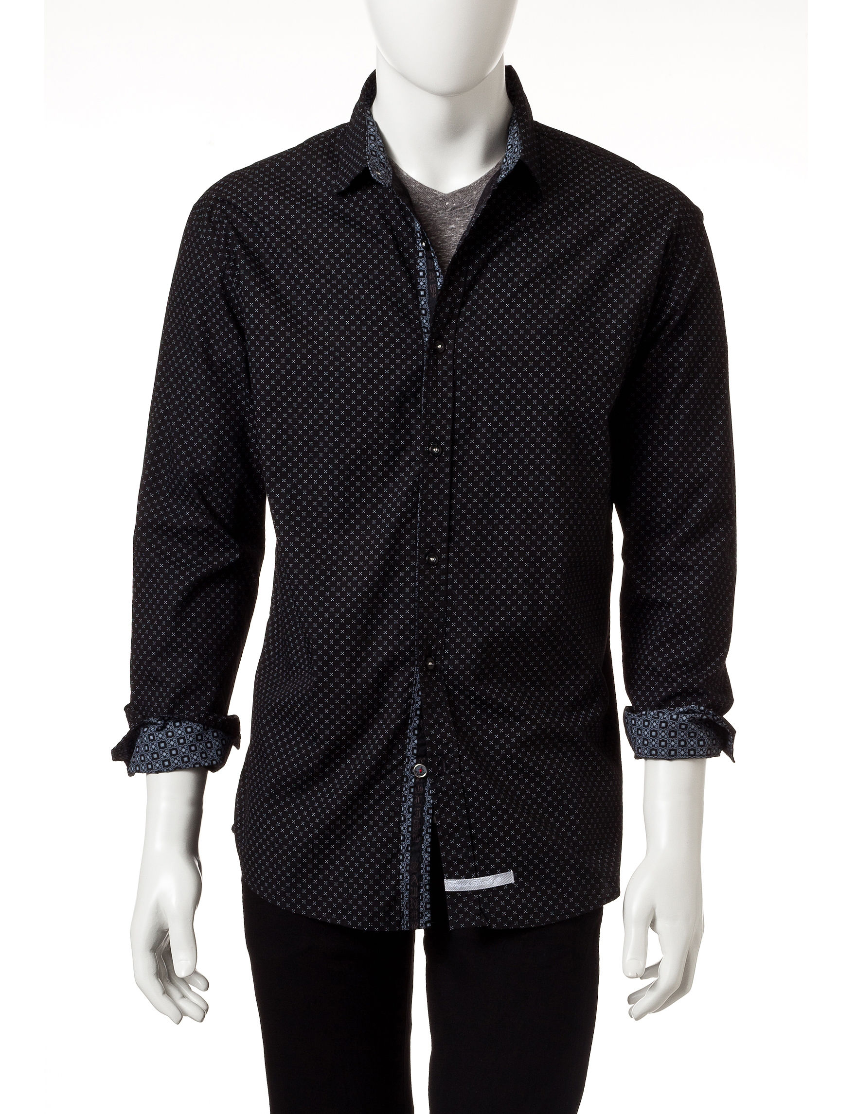 English Laundry Black Casual Button Down Shirts