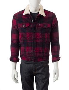 Levi's Plaid Print Trucker Jacket