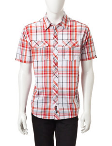 Southpole Red Casual Button Down Shirts