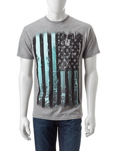 Ocean Current Grey Tees & Tanks