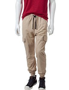 Hollywood Nate Khaki Cargo Jogger Pants