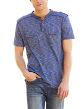 Signature Studio Niagara Blue Henley Camp Shirt
