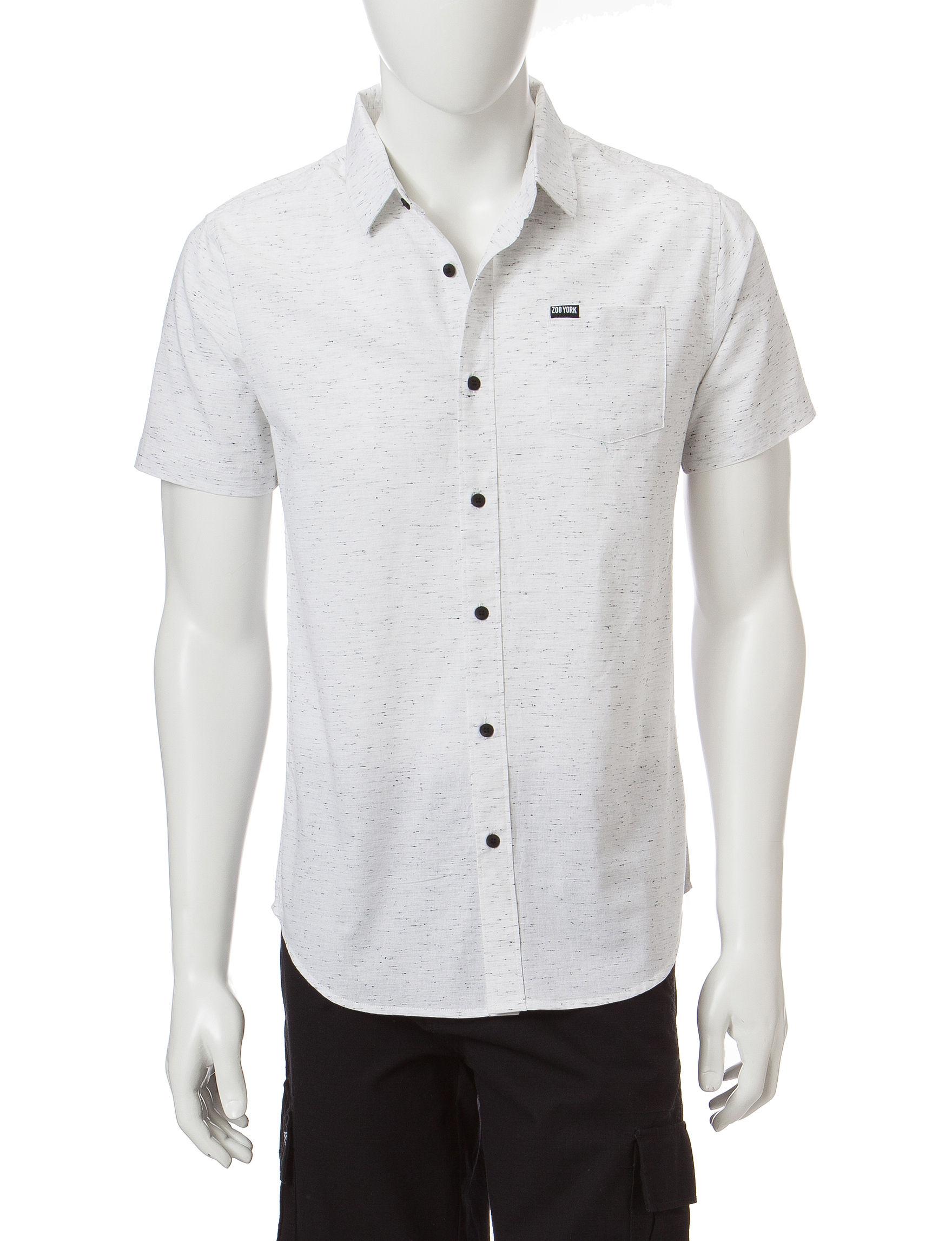 Zoo York White Casual Button Down Shirts