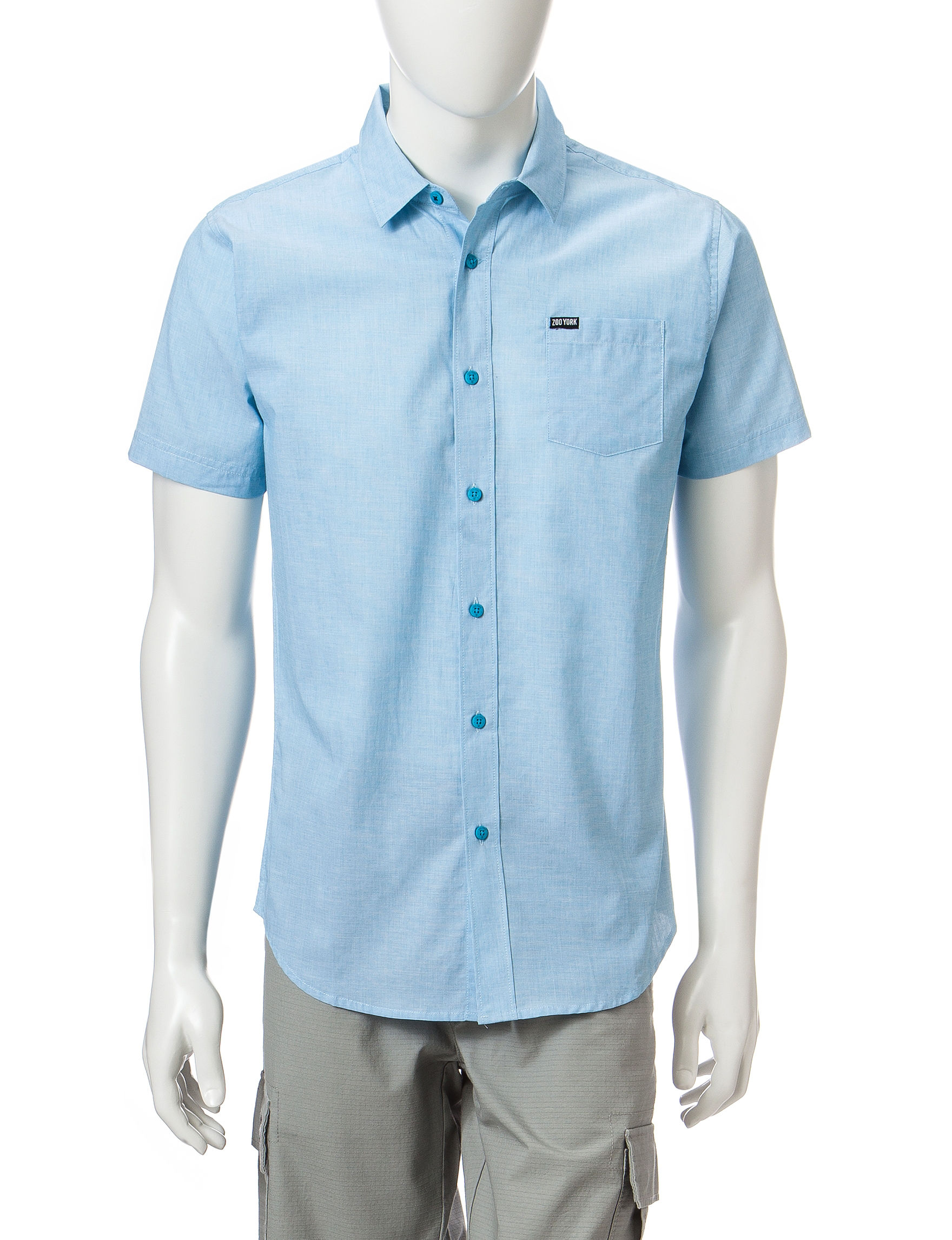 Zoo York Blue Casual Button Down Shirts