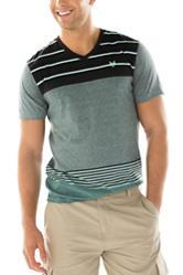 Zoo York Mint & Black Electronic Striped T-shirt
