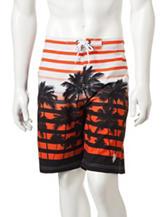 U.S. Polo Assn. Stripe Palm Swim Shorts