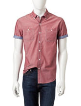 Signature Studio Solid Chambray Woven Top