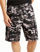 Levi's® Black Camo Print Carrier Shorts