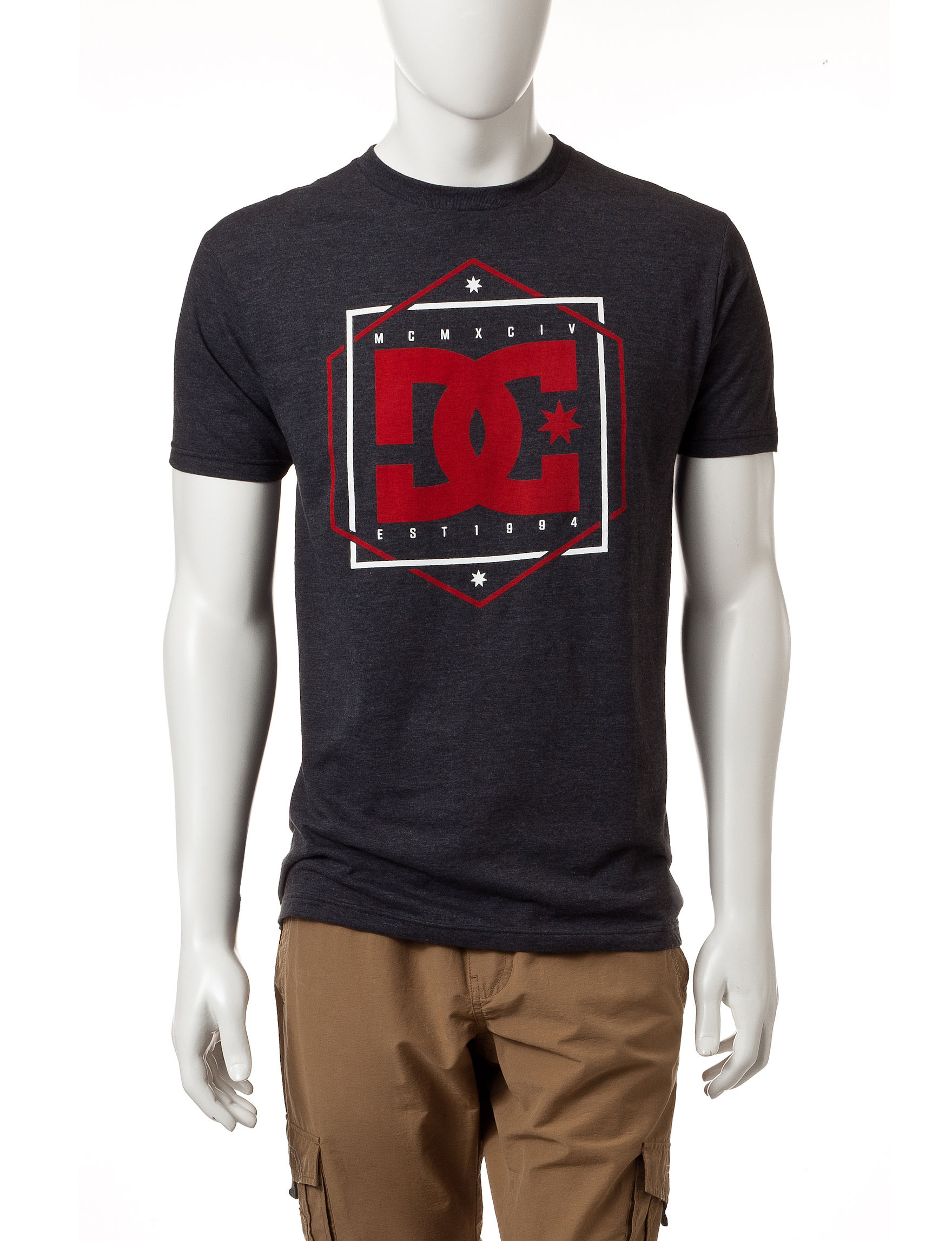 DC Shoes Grey Tees & Tanks