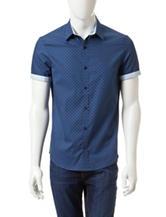 Marc Eckō Tonal Blue Sunburst Woven Shirt