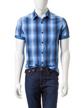 Axist Multicolor Gradient Plaid Print Woven Shirt
