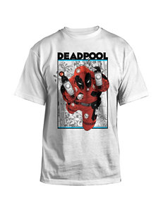 Marvel White Deadpool T-shirt