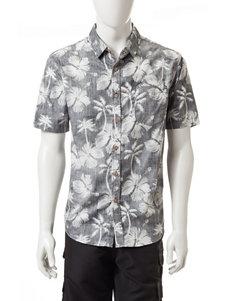 Point Zero Black Casual Button Down Shirts