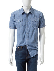Distortion Denim Textured Woven Shirt