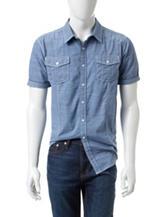 Distortion Denim Textured Woven Shirt
